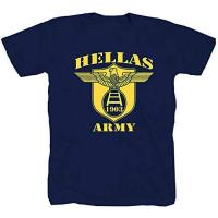 Genua Hellas Army Calcio Ultras Fussball Football blau T-Shirt (L)