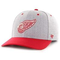 Detroit Red Wings 47 Brand Forty Seven Detroit Red Wings NHL Storm Cloud TT MVP DP Charcoal Curved Visor Snapback Cap Limited Edition