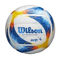 WWK Volleys Herrsching Wilson AVP Recreational Volleybälle, Unisex-Erwachsene, Wilson AVP Splatter Volleyball, blau / weiß