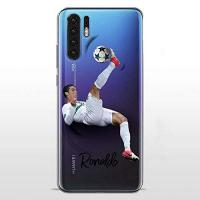 Portugal P30Pro TPU DURCHSICHTIG Softcae Hülle Protective Schutzhülle Handycover Etui Staubdicht Telefon-Kasten Case Abdeckung Bumper Back Cover, Soccer Collection, CR7 Portugal, Huawei P30 Pro