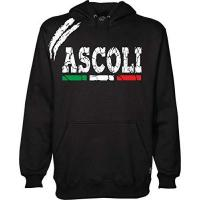 Ascoli Anzug Ascoli Kapuzenpullover Sport Fans Ultras Fußball Supporter Made in Italy, Schwarz Large