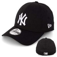 Baseball New Era Basecap Baseball Cap Herren Limited Edition MLB Mütze 39THIRTY Stretch Fit New York Yankee, LA Dodgers, Essential Basic (S/M, Black/White)