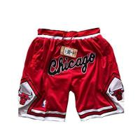 Chicago Bulls ULIIM Herren Bulls Shorts Mesh Basketball Retro Chicago Bulls Swingman Sports Shorts M-XXL