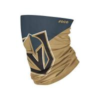 Vegas Golden Knights Foco Vegas Golden Knights NHL Colour Block Big Logo Gaiter Scarf Forever Collectibles - One-Size