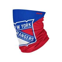 New York Rangers Foco New York Rangers NHL Colour Block Big Logo Gaiter Scarf Forever Collectibles - One-Size