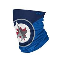 Winnipeg Jets Foco Winnipeg Jets NHL Colour Block Big Logo Gaiter Scarf Forever Collectibles - One-Size