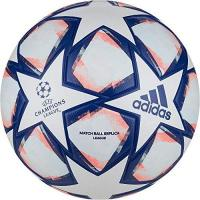 Fußball adidas Unisex UCL Finale 20 League Fußball, White/Royal Blue/Signal Coral/Sky Tint, 5