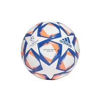Fußball adidas Unisex Kinder UCL Finale 20 Junior League Fußball, White/Royal Blue/Signal Coral/Sky Tint, 4