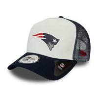 New England Patriots New Era New England Patriots NFL Cap Trucker Kappe Verstellbar American Football Weiss - One-Size