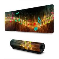 Geschenke aus Staven Mouse Pad,Stave With Colorful Musical Notes Extended Large Mouse Pads,Durable Comfortable Desk Pads For Home Pc Decor,30*80cm
