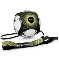 Rayo Vallecano KUYOU Fußball/Volleyball/Rugby Kick Throw Trainer Solo Praxis Training Aid Control Fähigkeiten Verstellbar (Gelb)