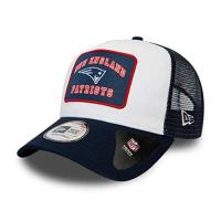 New England Patriots New Era New England Patriots NFL Cap Verstellbar Trucker Kappe American Football Weiss - One-Size