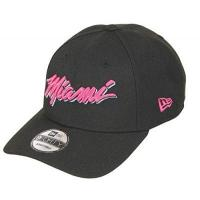 Miami Heat New Era Miami Heat 9forty Adjustable Snapback Cap - NBA Essential - Black/Pink - One-Size