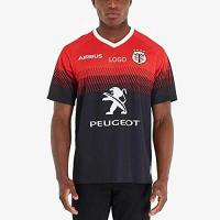 Toulouse 2020 Toulouse Rugby Jersey, Toulouse Home Court Rugby-Hemd Supporter-Polo-Hemd (S-XXXL) red-XL
