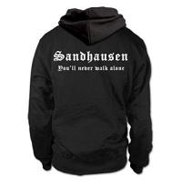 SV Sandhausen shirtloge - SANDHAUSEN - You'll Never Walk Alone - Fussball Fan Kapuzenpullover Hoodie - Größe M