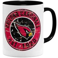 Arizona Cardinals OM3® Arizona Badge Tasse | Keramik Becher | 11oz 325ml | American Football Mug | Schwarz