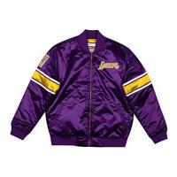 Los Angeles Clippers Mitchell & Ness M&N NBA HEAVYWEIGHT SATIN JACKET LOS ANGELES LAKERS, PURPLE, M