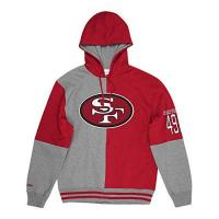 San Francisco 49ers Mitchell & Ness M&N NFL Split Colour Hoody Pittsburgh Steelers,XL,San Francisco 49ers, Grey/Red