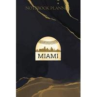 Miami Marlins Notebook Planner Womens Miami Baseball Cool Marlin Skyline On Giant Ball: Daily Journal, Over 100 Pages, Goals, Management, Daily, Daily Organizer, To Do List, 6x9 inch