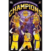 Los Angeles Lakers Close Up 2020 NBA Finals Champions Poster, Los Angeles Lakers (56,8cm x 86,4cm)