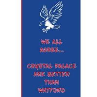 Crystal Palace We All Agree... Crystal Palace Are Better Than Watford: Eagles Notebook Football Gift Soccer Journal - Glaziers Funny Notebook For Men And Women ... FC Fans - Lined Notebook Journal as a gift