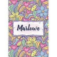 Geschenke aus Marlow Marlowe: Notebook A5 | Personalized name Marlowe | Birthday gift for women, girl, mom, sister, daughter ... | Design : floral | 120 lined pages journal, small size A5 (5.83 x 8.27 inches)