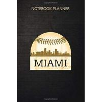 Miami Marlins Notebook Planner Miami Baseball Cool Marlin Skyline On Giant Ball: 6x9 inch, Over 100 Pages, Passion, Daily Journal, Appointment , To Do, Goals, Daily
