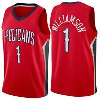New Orleans Pelicans Zion Williamson Basketball-Jersey für Männer, New Orleans Pelicans 2020/21 Swingman Jersey - Icon Edition (S-XXL) red-XL