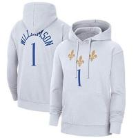 New Orleans Pelicans JQW Zion Williamson Hoodie Herren Pullover, New Orleans Pelicans Basketball Hoodie Sweatshirt 2020-21 Stadt Jogging Sweat Suits (S-XXXL) White-L